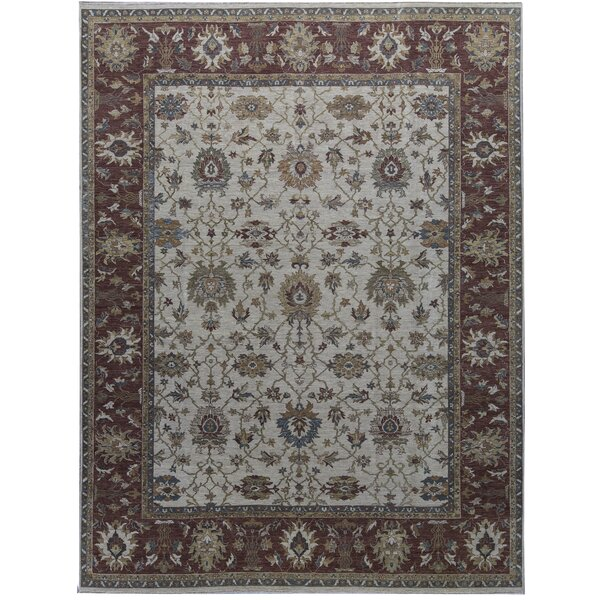 One-of-a-Kind Hand-Knotted Beige 11'11 x 15'8 Wool Area Rug