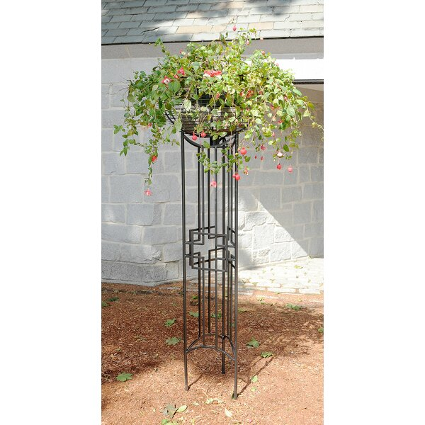 Square-on-Squares Pylon Iron Gothic Trellis by ACHLA