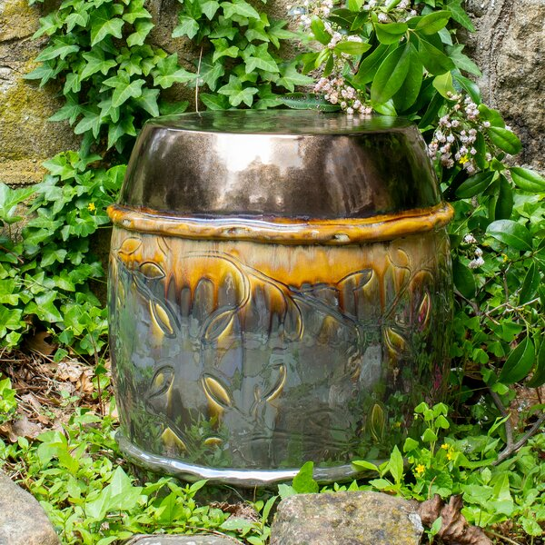 Wykoff Ceramic Garden Stool by Bloomsbury Market Bloomsbury Market