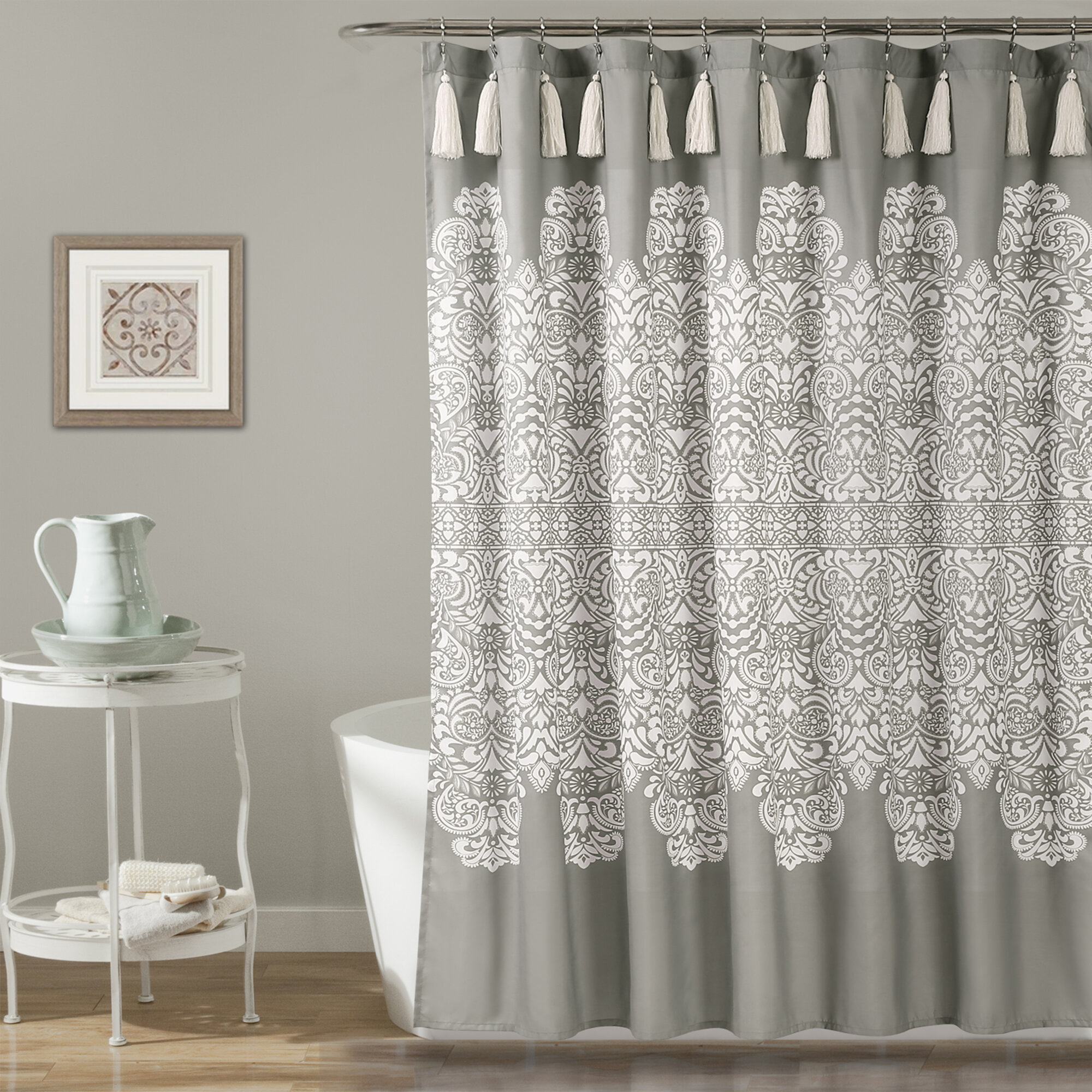 Bungalow Rose Sepulveda Single Shower Curtain Reviews Wayfair