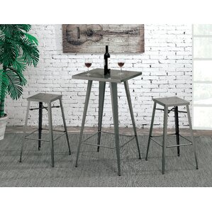 Grosetto Industrial Metal Pub Table Set by 17 Stories