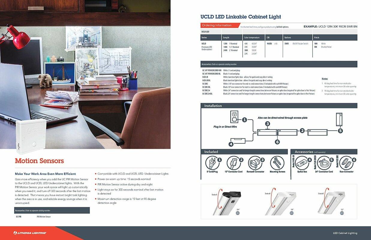 Lithonia Lighting Ucld 24quot Led Under Cabinet Bar Light