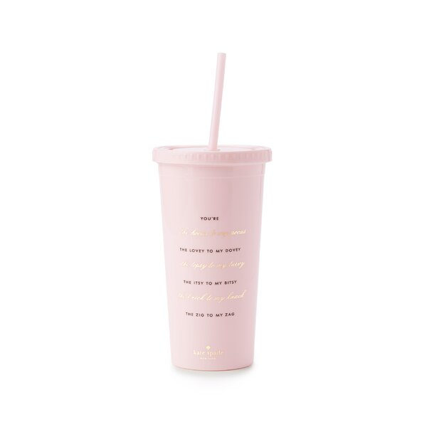Tumbler with Straw, Hocus To My Pocus (Bridesmaid) by kate spade new york