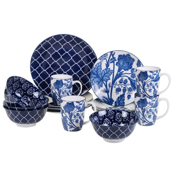 Clair Blue 16 Piece Dinnerware Set, Service for 4 by Darby Home Co