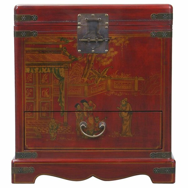 Handmade Oriental Antique End Table by EXP Décor