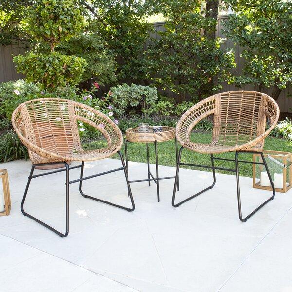 Alandhra 3 Piece Rattan Seating Group by Bayou Breeze