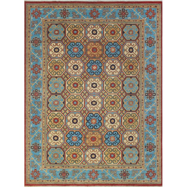 One-of-a-Kind Woodmoor Bakhtawora Hand-Knotted Wool Rust Area Rug by Loon Peak