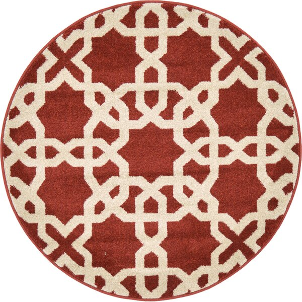 Moore Dark Terracotta Area Rug by Charlton Home