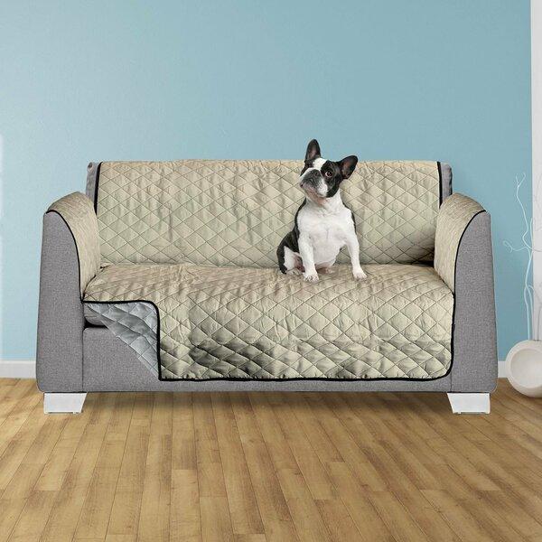 Compare Price Reversible Box Cushion Loveseat Slipcover