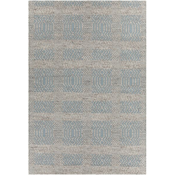 Patwin Patterned Contemporary Blue/Natural Area Rug by Bungalow Rose