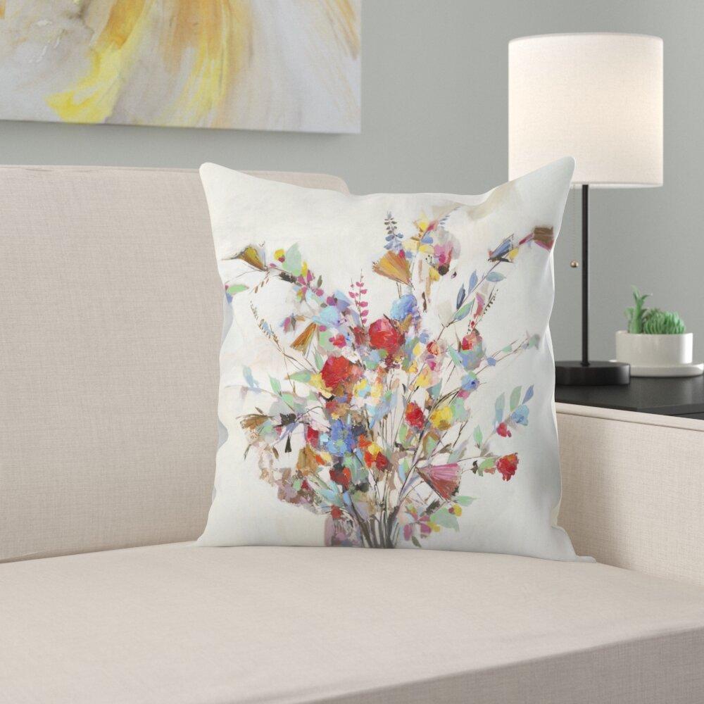 East Urban Home Spring Bouquet Throw Pillow Wayfair