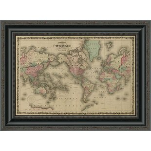 World map wall art world map framed print gumiabroncs Image collections