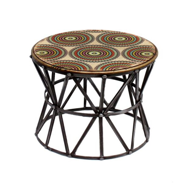 Round Metal Stool by ESSENTIAL DÉCOR & BEYOND, INC