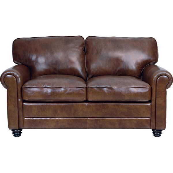 Purchase Online Lambdin Leather Loveseat by Canora Grey by Canora Grey