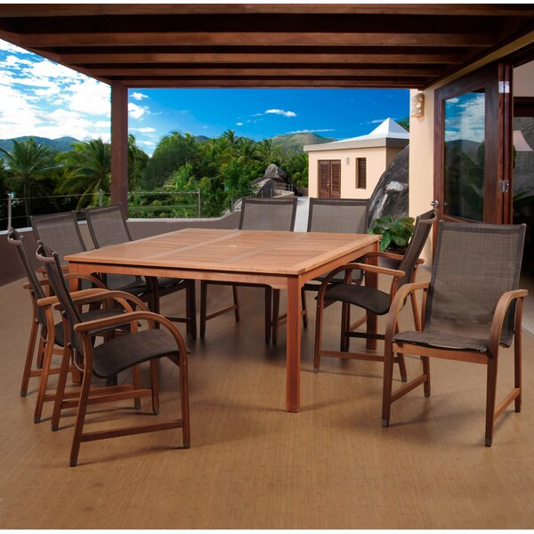 Blanford International Home Outdoor 9 Piece Dining Set by Ebern Designs