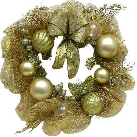 Festive Mesh 24 Ribbon Wreath by The Holiday Aisle