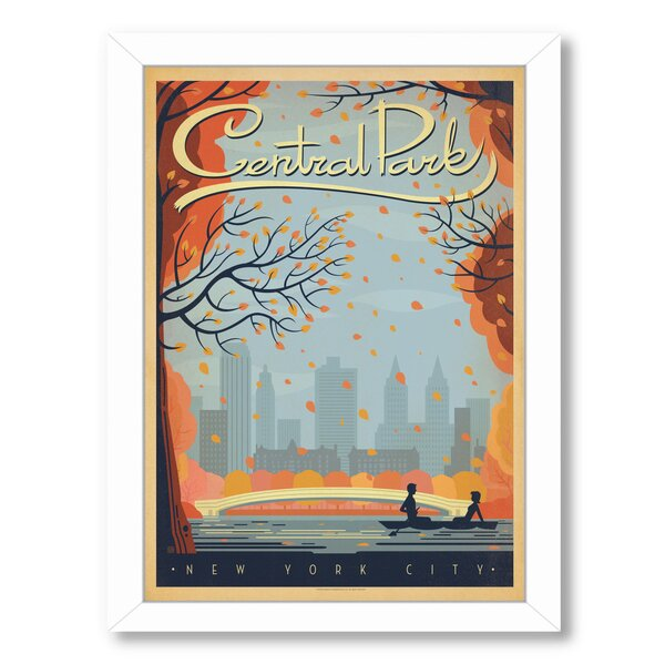 New York City Central Park Autumn Framed Vintage Advertisement by East Urban Home