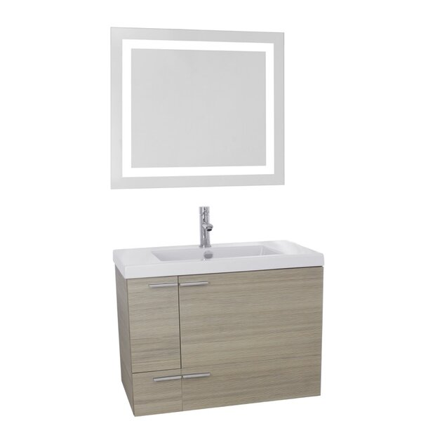 New Space 31 Single Bathroom Vanity Set with Mirror by Nameeks Vanities