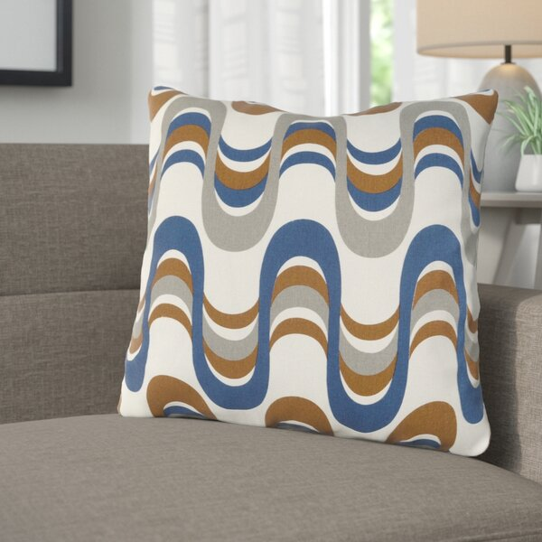 Arsdale Square Graphic Print Cotton Throw Pillow by Langley Street