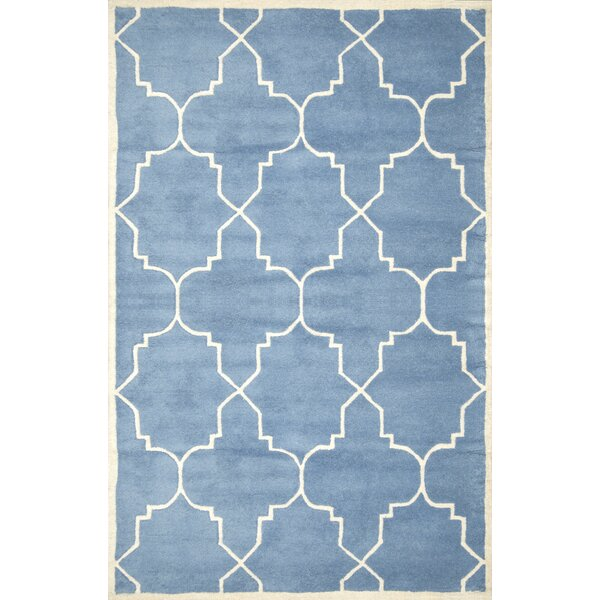 Lalande Hand-Tufted Wool Blue Area Rug by nuLOOM