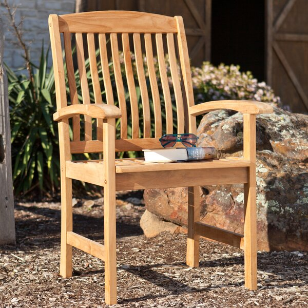 Mellow Teak Patio Chair (Set of 2) by Wildon Home ®