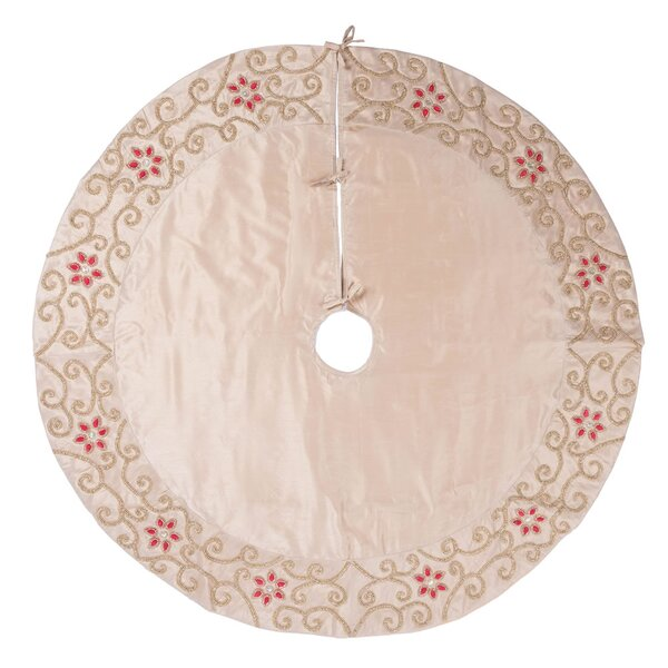 Floral Border Tree Skirt by House of Hampton