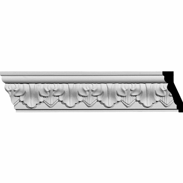 Ashur 2 5/8H x 94 1/2W x 1 1/4D Leaf Crown Moulding by Ekena Millwork