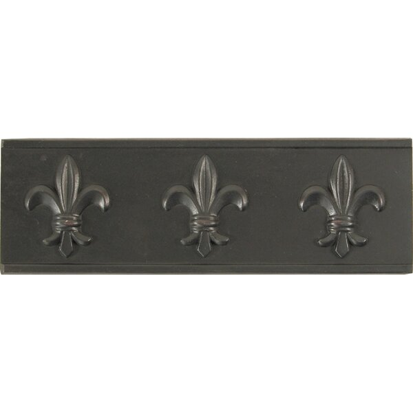 2 x 6 Metal Attractive Decorative Accent Tile in Dark Bronze (Set of 4) by The Copper Factory