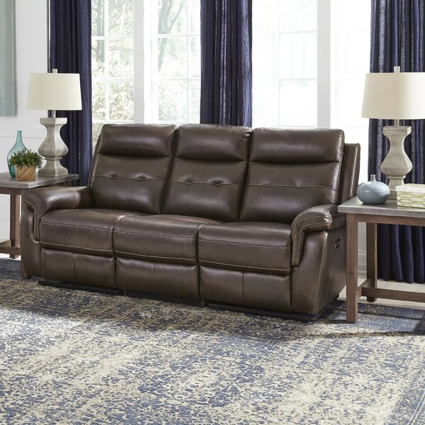 Best Quality Online Sasheer Leather Reclining Sofa by Latitude Run by Latitude Run