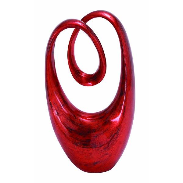 Exquisite Twist Red Sculpture by Wade Logan