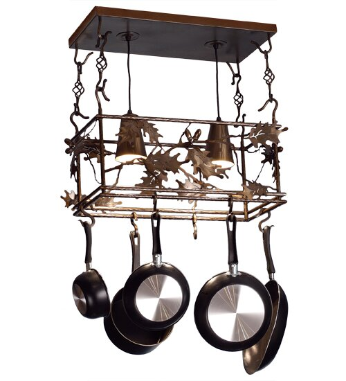 Leaf and Acorn Pot Rack by Meyda Tiffany