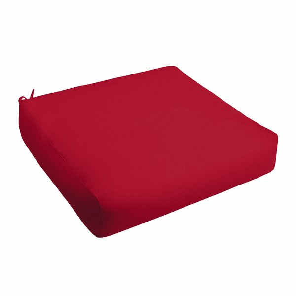 Crimson Indoor/Outdoor Dining Chair Cushion with Ties by Alcott Hill