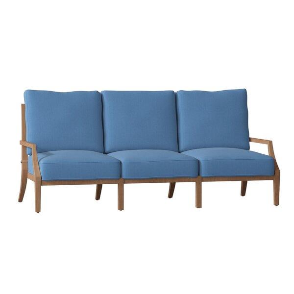 Haley Teak Patio Sofa with Cushions by Summer Classics