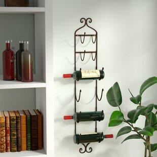 Kitchen table with wine rack wayfair vallauris 6 bottle wall mounted wine rack workwithnaturefo