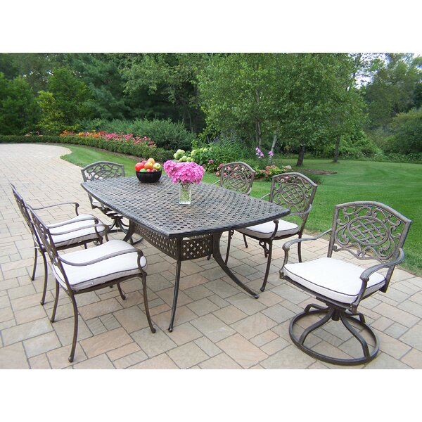 Mississippi Oxford 7 Piece Dining Set with Cushions by Oakland Living