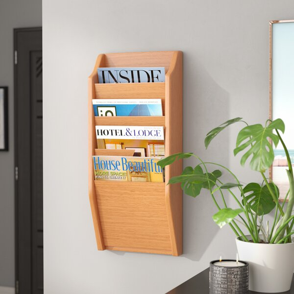Maclaine 4 Pocket Wall Mount Magazine Rack By Rebrilliant.