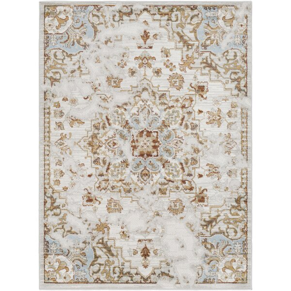 Lenora Classic Light Gray/Beige Area Rug by Charlton Home