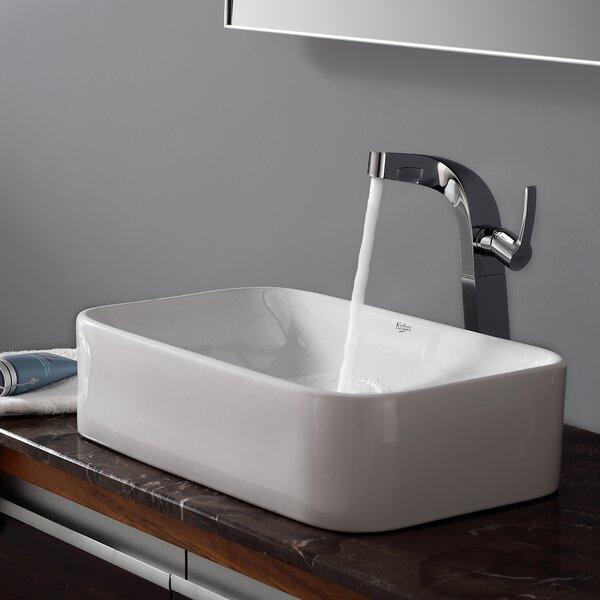 Calanthe Calanthe Rectangular Vessel Bathroom Sink by Zipcode Design