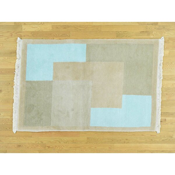 One-of-a-Kind Beverly Art Deco Handwoven Wool Area Rug by Isabelline