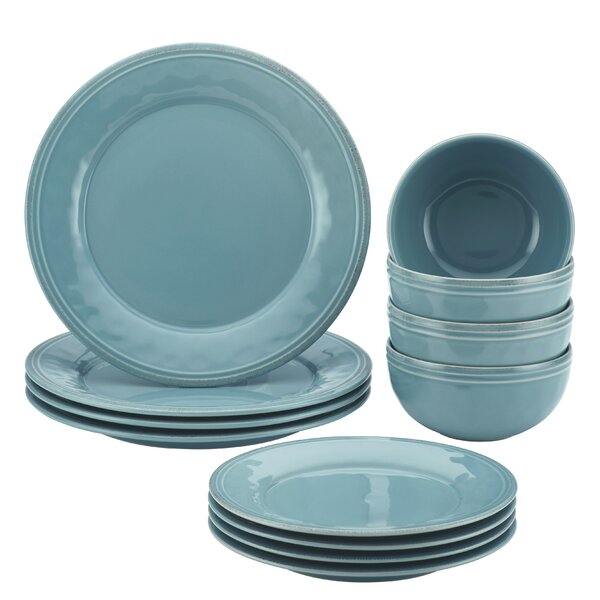 Cucina 12 Piece Dinnerware Set, Service for 4 by Rachael Ray