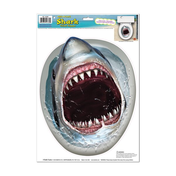 Shark Toilet Seat Decal by The Beistle Company