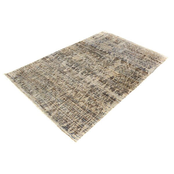 One-of-a-Kind Dorn Hand-Knotted Wool Gray/Blue Area Rug by Isabelline