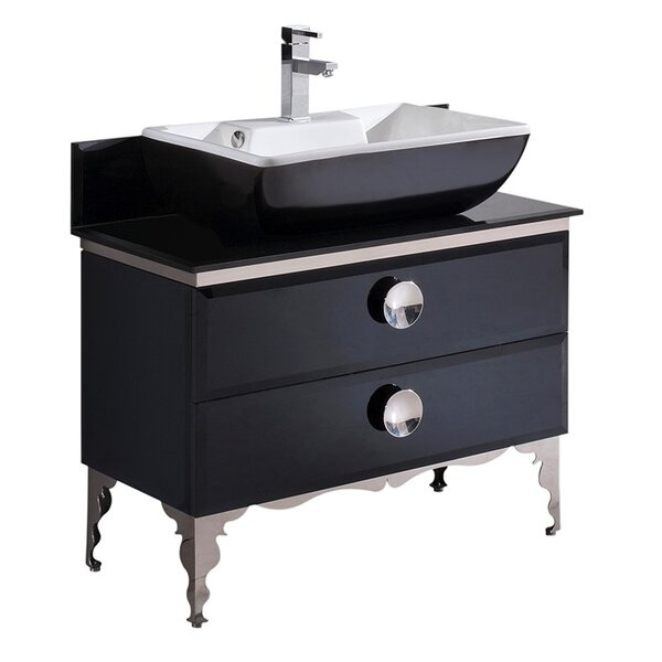 Moselle Glass 36 Single Bathroom Vanity Set by Fresca