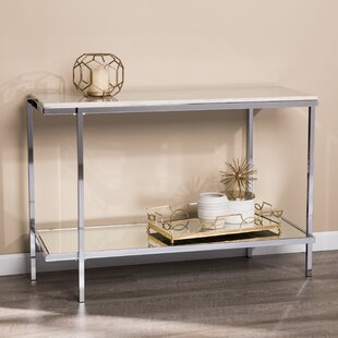Find the perfect Skipton Faux Marble Console Table By Everly Quinn