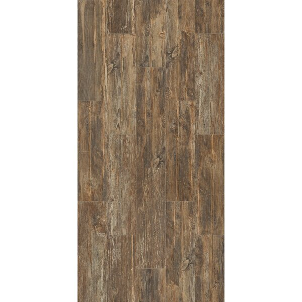 Tampico 7 x 24 Ceramic Wood Look Tile in Dark Brown by Welles Hardwood