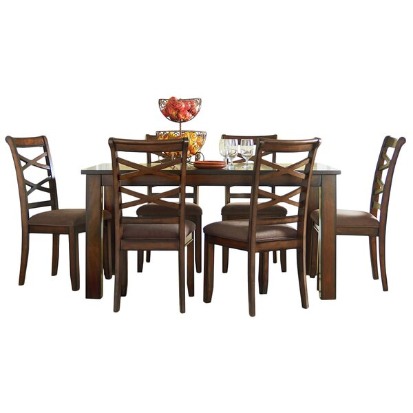 Honey Crossback 7 Piece Dining Set by Andover Mills