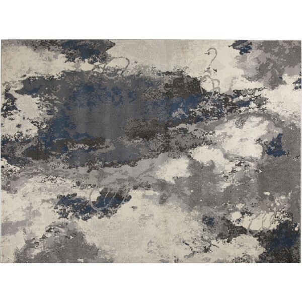 Cosmopolitain Gray/Ivory Area Rug by Ren-Wil