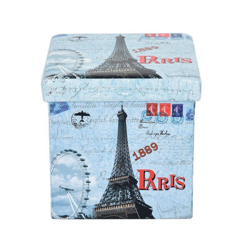 Elborough The Eiffel Tower Storage Ottoman