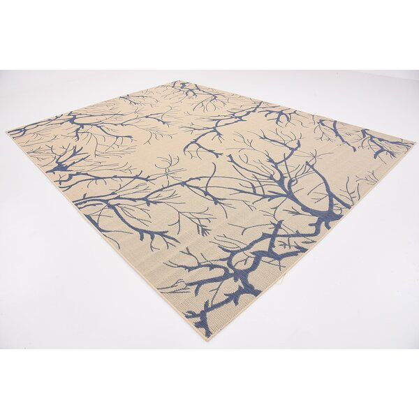 Korbin Beige/Blue Outdoor Area Rug by Zipcode Design