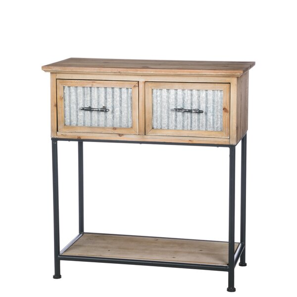 Lockman Farmhouse 2 Drawer Console Table by Gracie Oaks